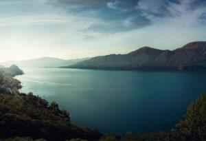 Beautiful Water and Mountain Scene