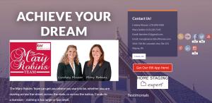 Mary Robins Team Website Screenshot