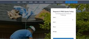 Morgan Family Roofing Website Screenshot