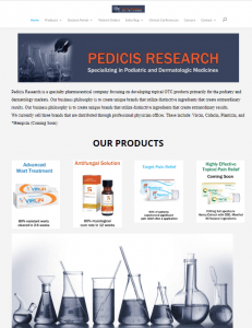 Pedicis Research Website Screenshot