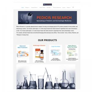 Pedicis Research Website Screenshot